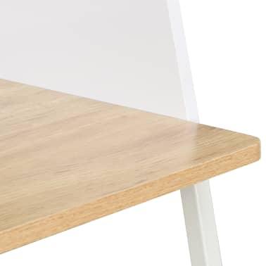 vidaXL Bureau Blanc et chêne 90 x 60 x 88 cm[6/7]