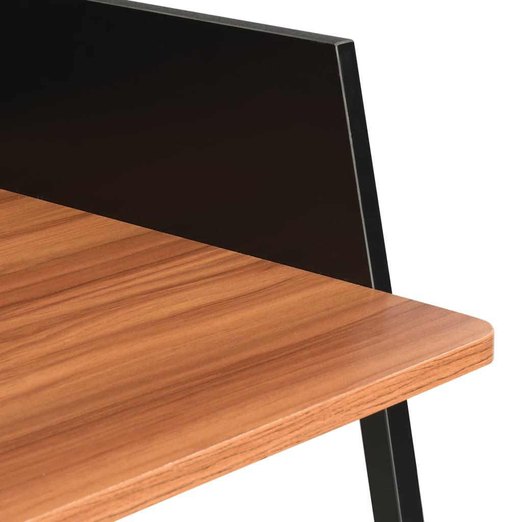 Psací stůl černý a hnědý 90 x 60 x 88 cm