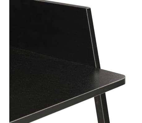 vidaXL Escritorio negro 90x60x88 cm[6/7]