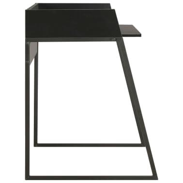 vidaXL Escritorio negro 90x60x88 cm[3/7]