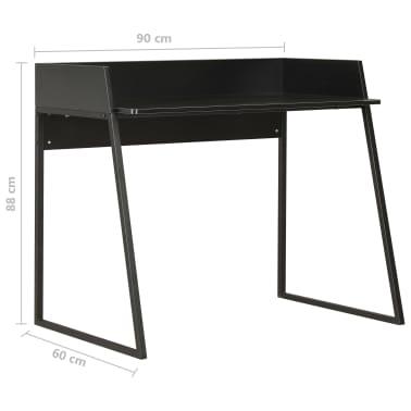 vidaXL Escritorio negro 90x60x88 cm[7/7]