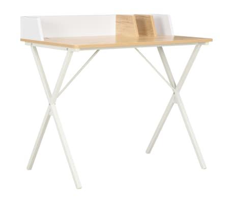 vidaXL Schreibtisch Weiß und Natur 80x50x84 cm