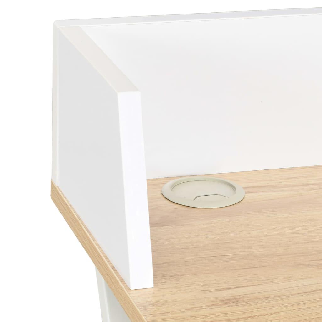 Psací stůl bílý a přírodní odstín 80 x 50 x 84 cm
