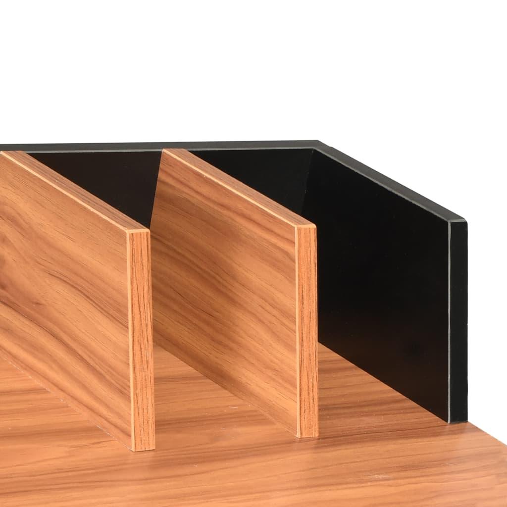 Psací stůl černý a hnědý 80 x 50 x 84 cm