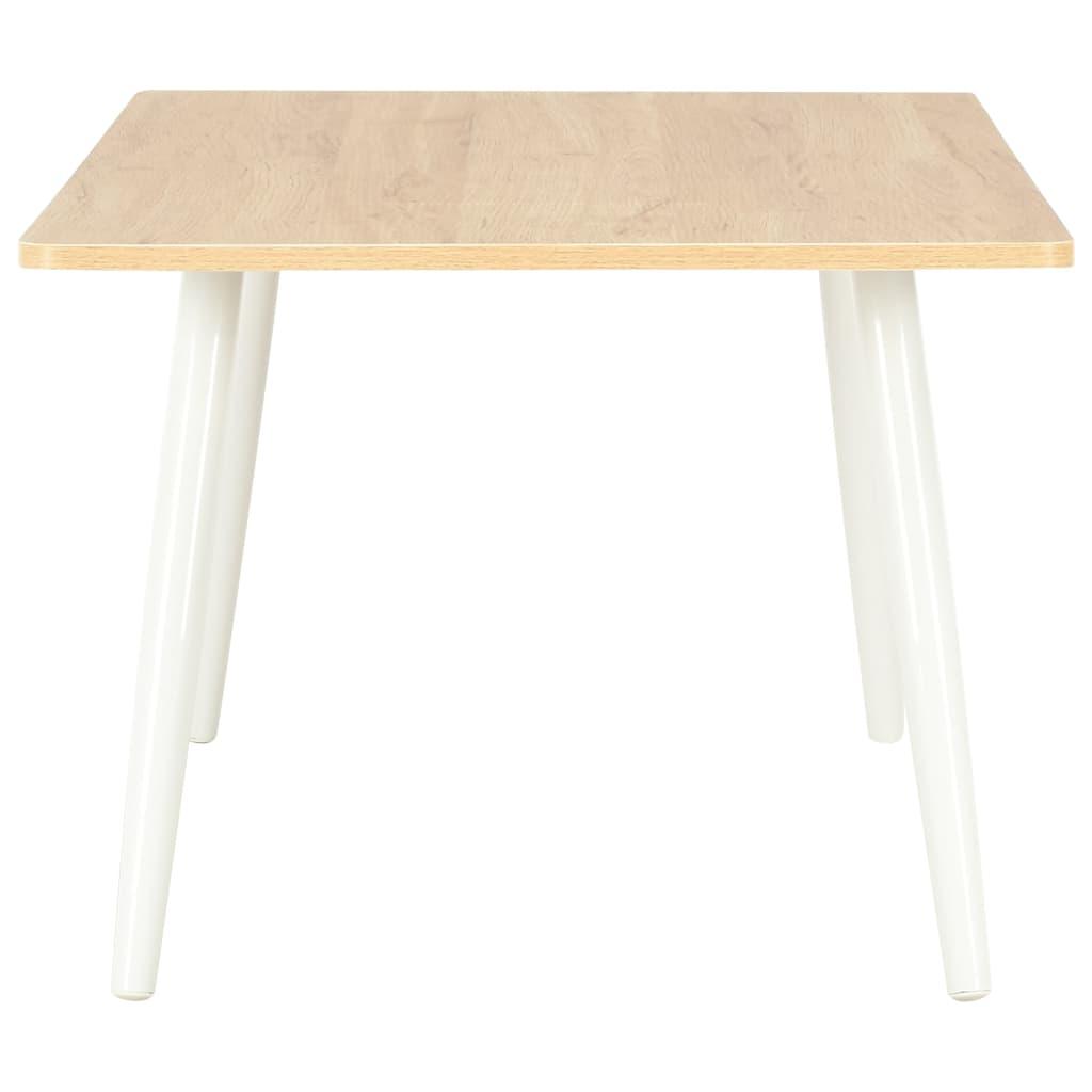 Konferenční stolek bílý a dubový odstín 120 x 60 x 46 cm