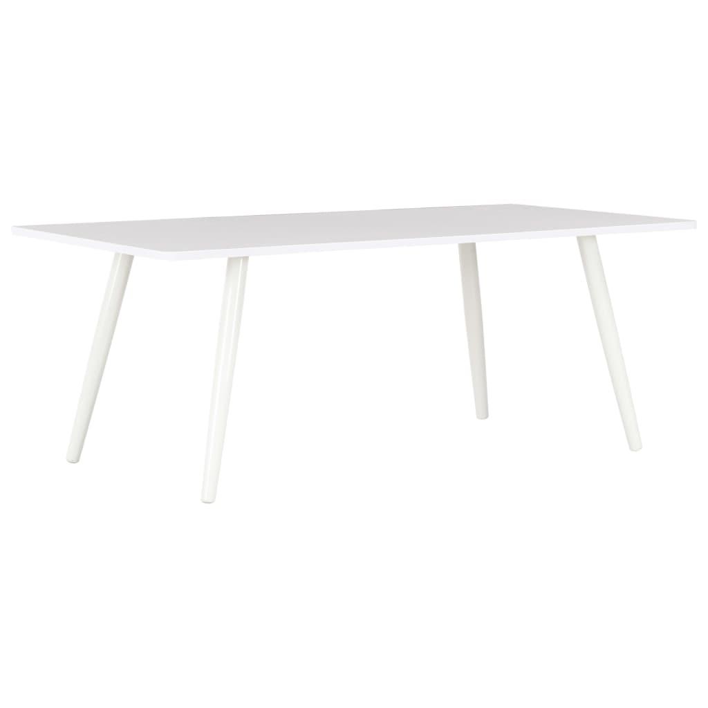 vidaXL Konferenční stolek bílý 120 x 60 x 46 cm