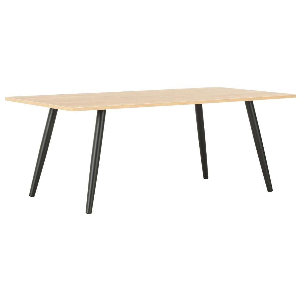 vidaXL Konferenční stolek černý a dubový odstín 120 x 60 x 46 cm