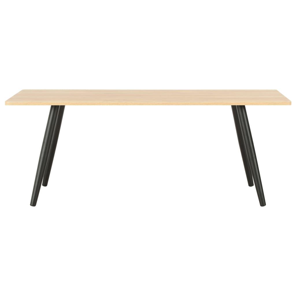 Konferenční stolek černý a dubový odstín 120 x 60 x 46 cm
