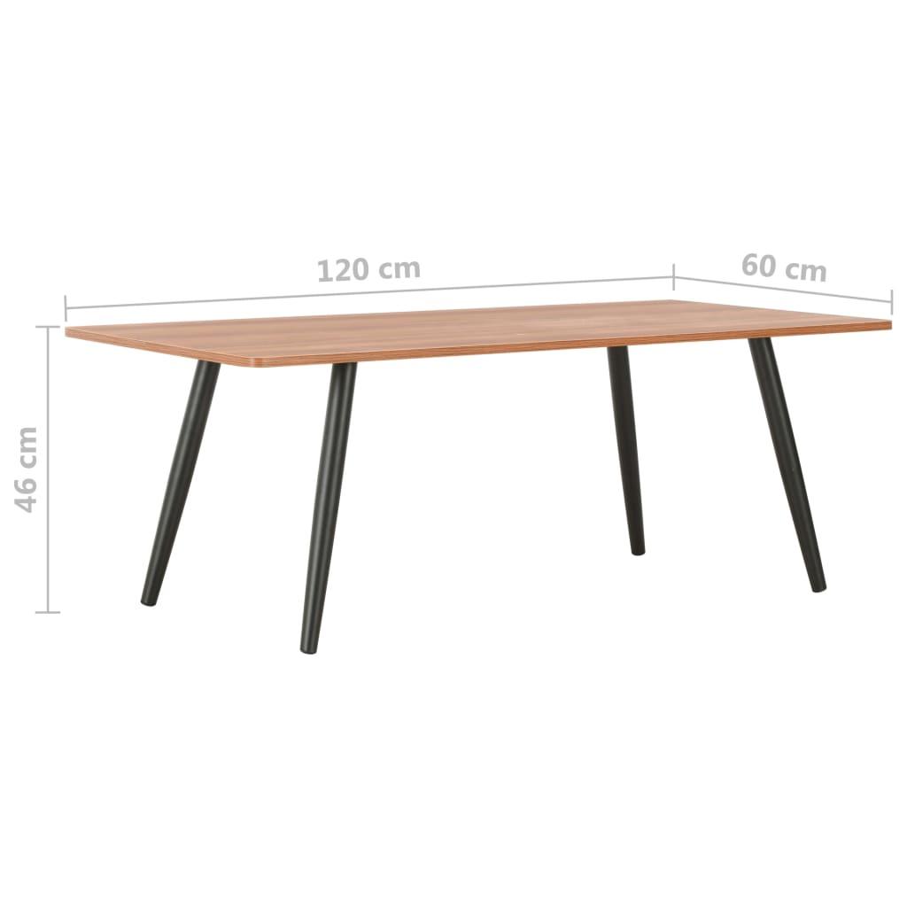 Konferenční stolek černý a hnědý 120 x 60 x 46 cm