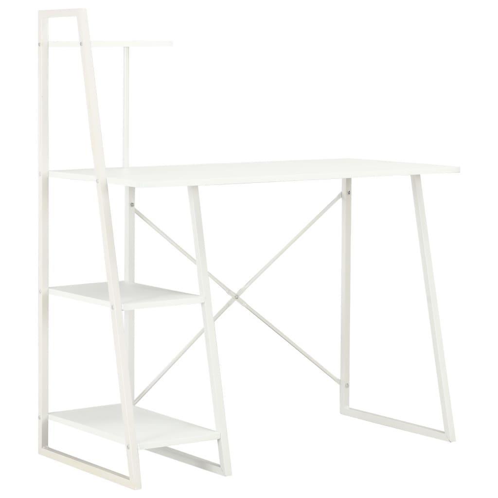 vidaXL Psací stůl s poličkami bílý 102 x 50 x 117 cm