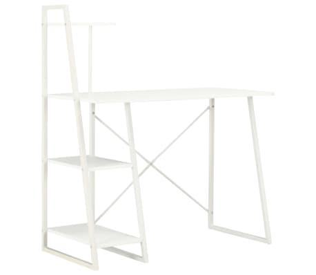 vidaXL Bureau avec étagère Blanc 102x50x117 cm[1/7]