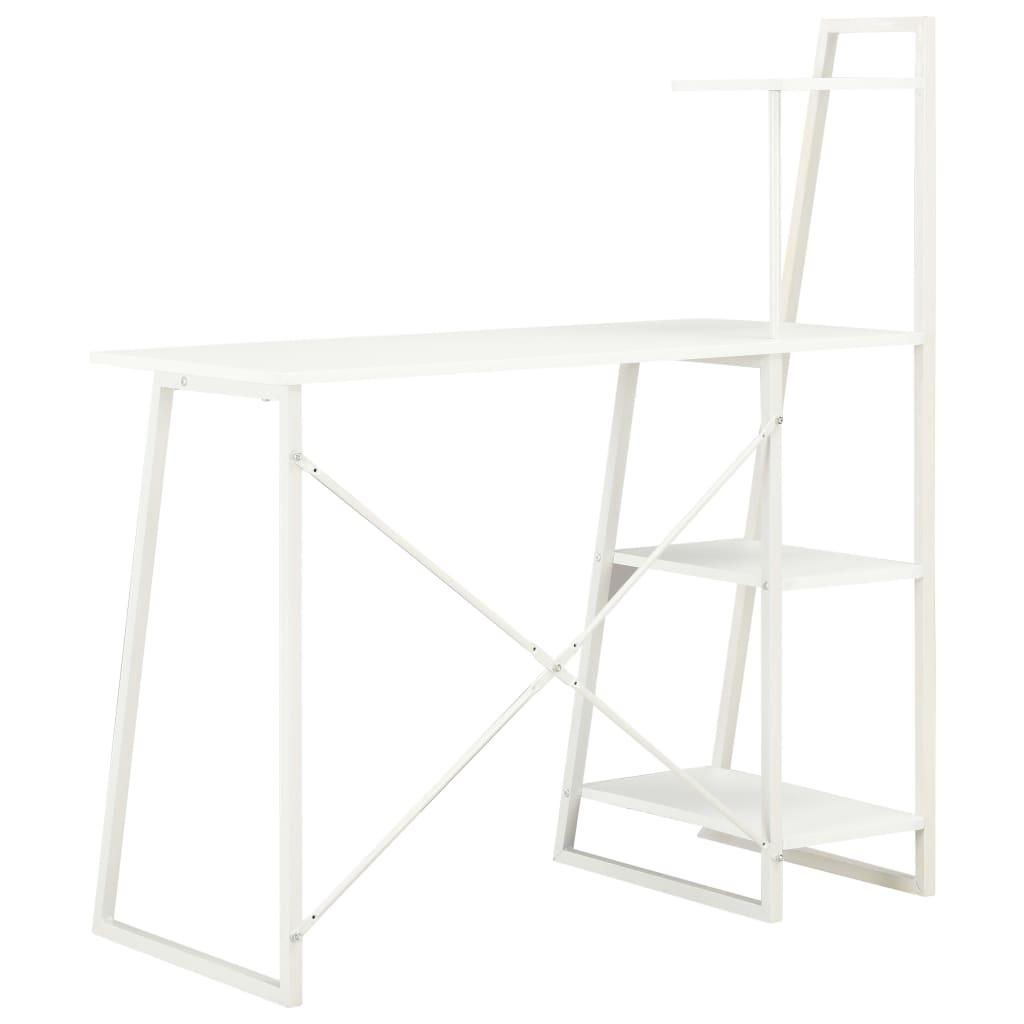 Psací stůl s poličkami bílý 102 x 50 x 117 cm