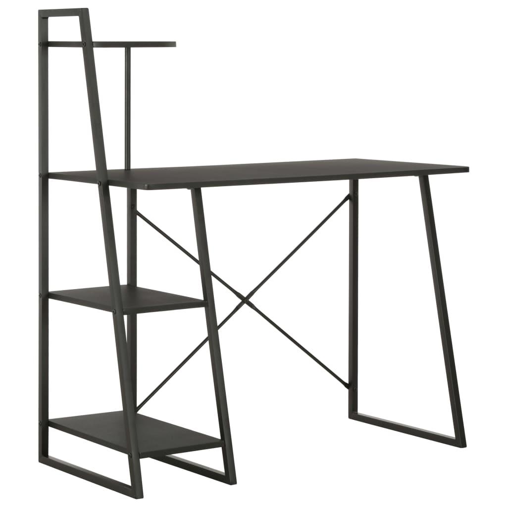 Psací stůl s poličkami černý 102 x 50 x 117 cm