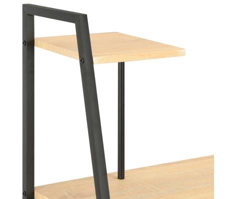 vidaXL Bureau avec étagère Noir et chêne 102x50x117 cm[5/7]
