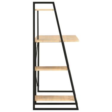 vidaXL Bureau avec étagère Noir et chêne 102x50x117 cm[3/7]