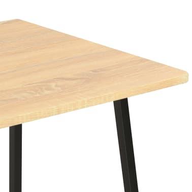 vidaXL Bureau avec étagère Noir et chêne 102x50x117 cm[6/7]