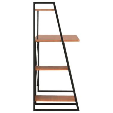 vidaXL Bureau avec étagère Noir et marron 102x50x117 cm[3/7]