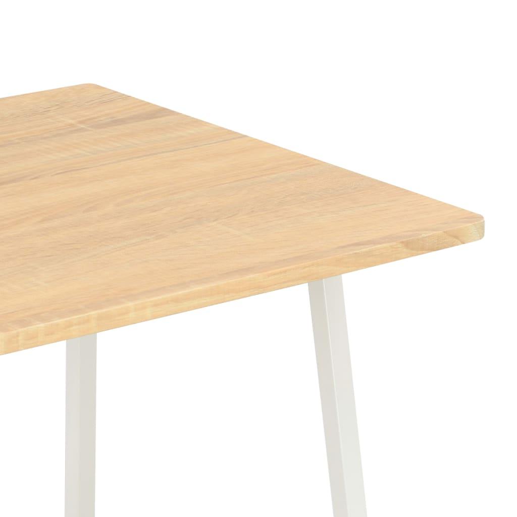 Psací stůl s poličkami bílý a dubový odstín 102 x 50 x 117 cm