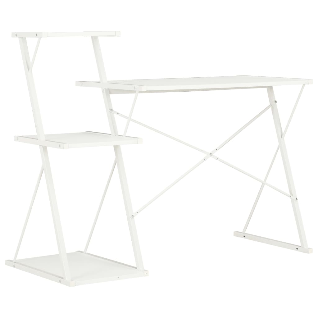 Psací stůl s poličkami bílý 116 x 50 x 93 cm