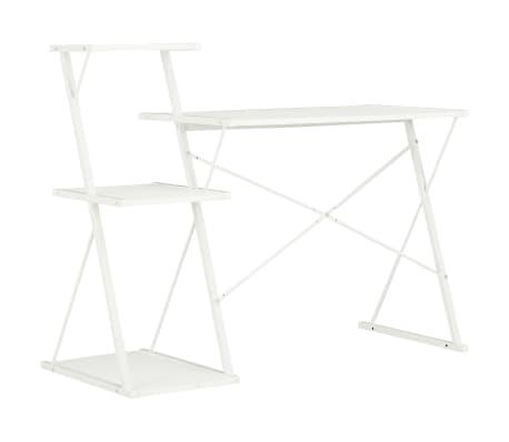 vidaXL Bureau avec étagère Blanc 116x50x93 cm[4/7]