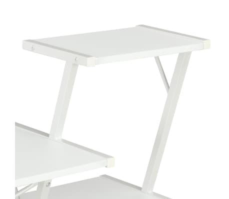 vidaXL Bureau avec étagère Blanc 116x50x93 cm[5/7]