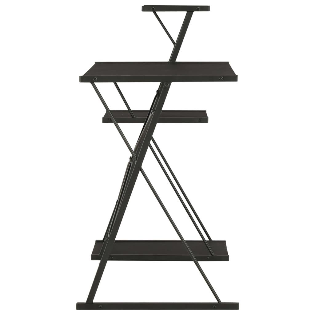 Psací stůl s poličkami černý 116 x 50 x 93 cm