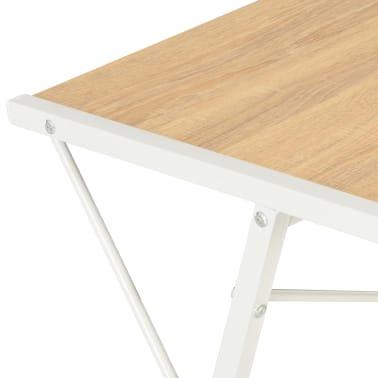 vidaXL Bureau avec étagère Blanc et chêne 116x50x93 cm[6/7]
