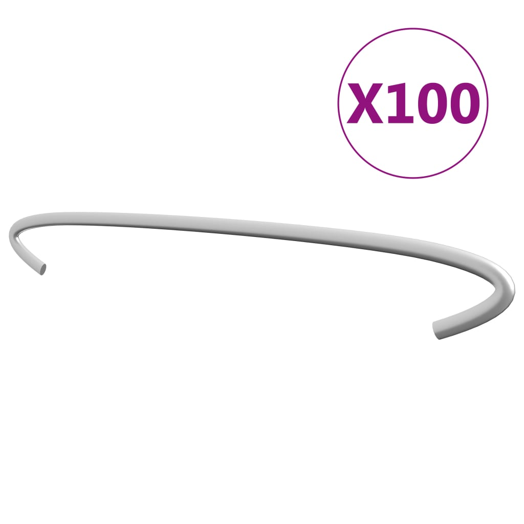 vidaXL Cârlige pentru gabioane, 100 buc., oțel galvanizat, 30 cm poza vidaxl.ro