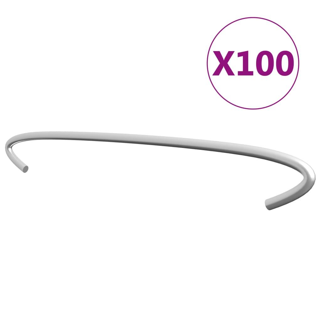 vidaXL Cârlige pentru gabioane, 100 buc., oțel galvanizat, 40 cm poza vidaxl.ro