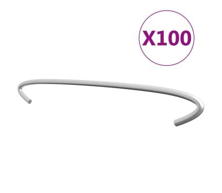 "vidaXL Gabion Hooks 100 pcs Galvanized Steel 15.7"""