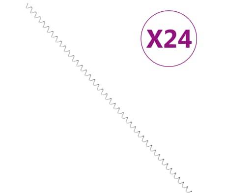 """vidaXL Gabion Spirals 24 pcs Galvanized Steel 39.4"""""""