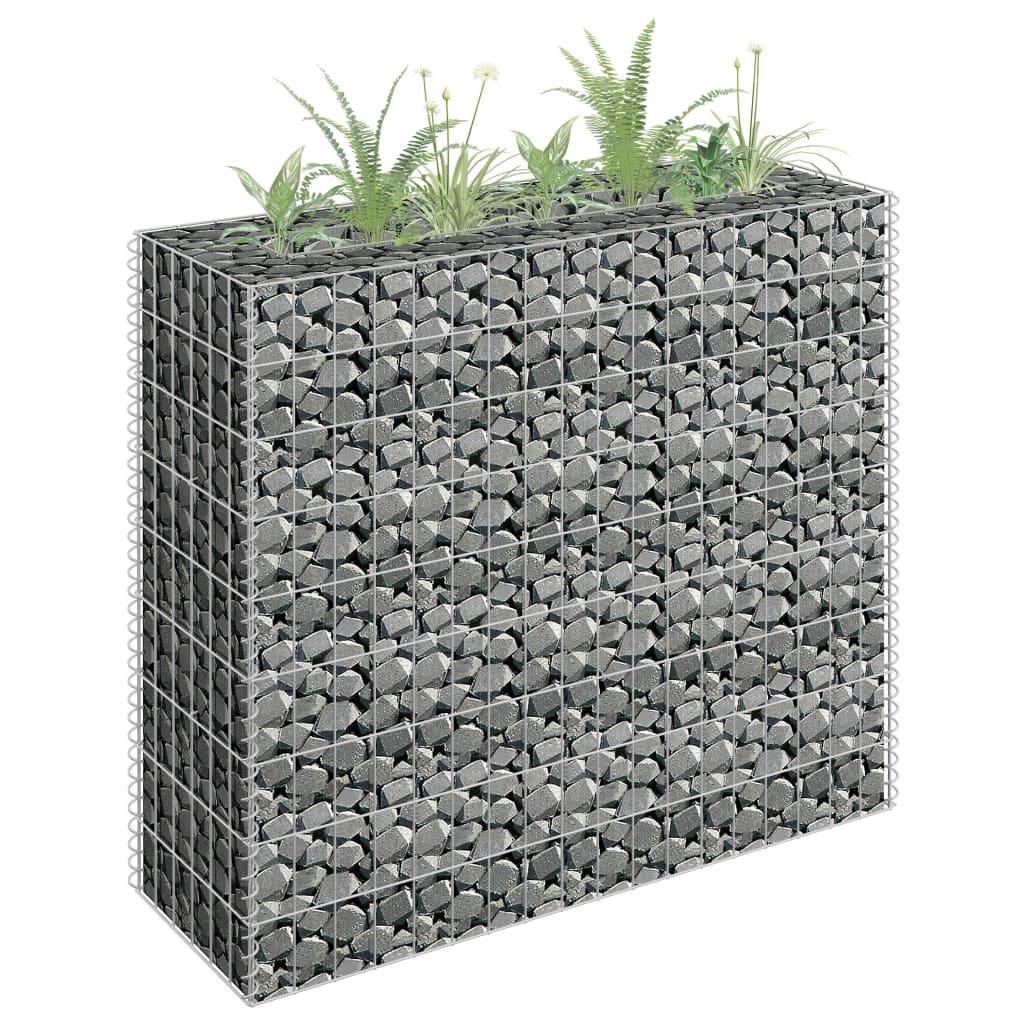 Gabionový vyvýšený záhon pozinkovaná ocel 90 x 30 x 90 cm