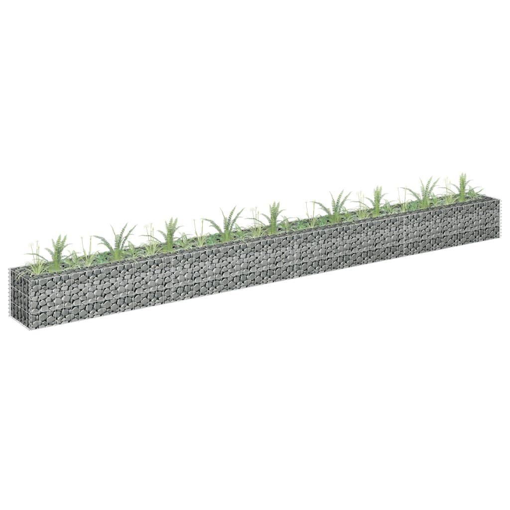 Gabioon-taimelava, tsingitud teras, 360 x 30 x 30..