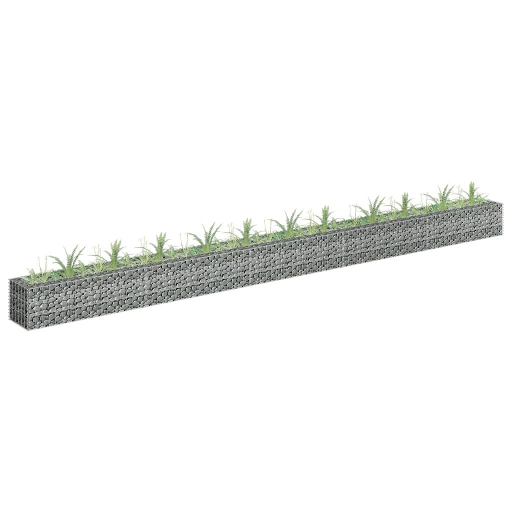 Gabioon-taimelava, tsingitud teras, 450 x 30 x 30..