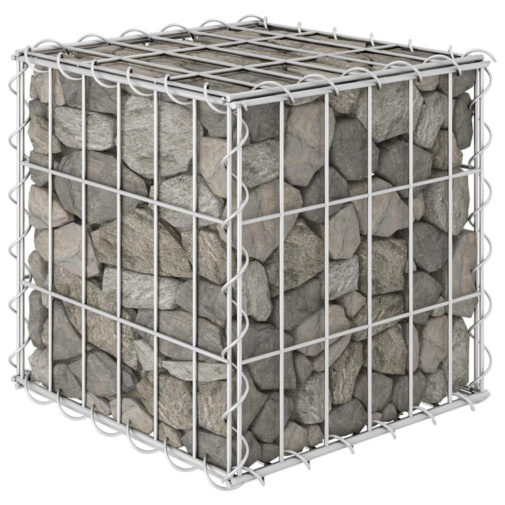 Gabionový vyvýšený záhon krychle ocelový drát 30 x 30 x 30 cm