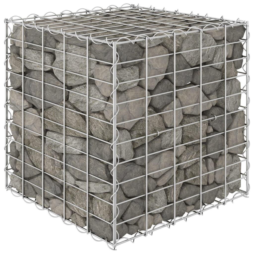 Gabionový vyvýšený záhon krychle ocelový drát 50 x 50 x 50 cm