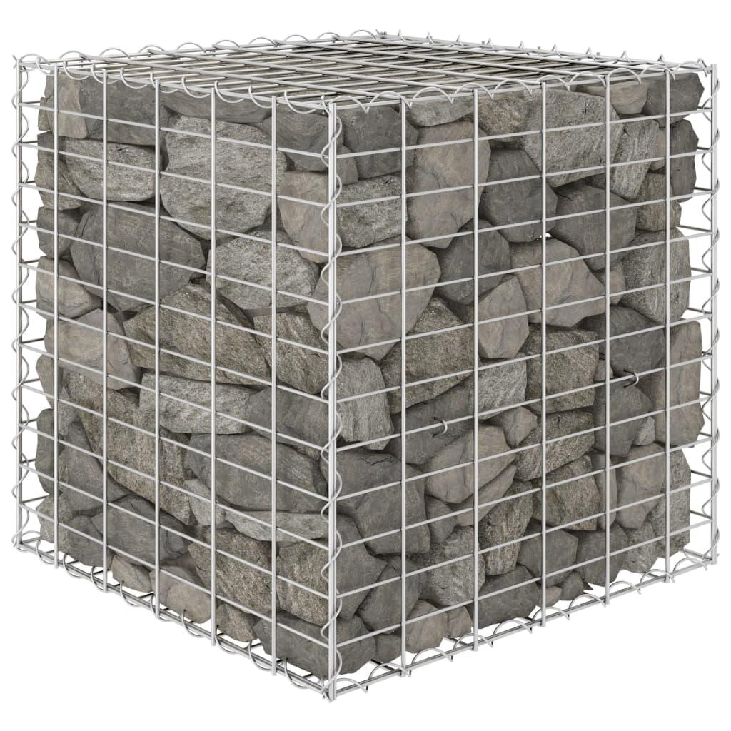 Gabionový vyvýšený záhon krychle ocelový drát 60 x 60 x 60 cm