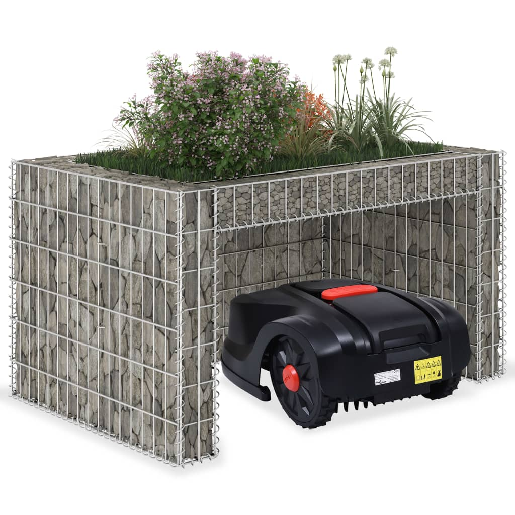 vidaXL Garaj mașină tuns iarba, strat înălțat, 110x80x60 cm sârmă oțel poza 2021 vidaXL