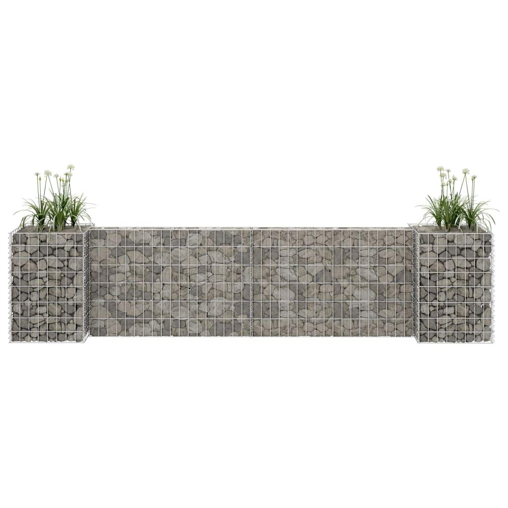 vidaXL Jardinieră gabion în formă de H, sârmă oțel, 260 x 40 x 60 cm vidaxl.ro