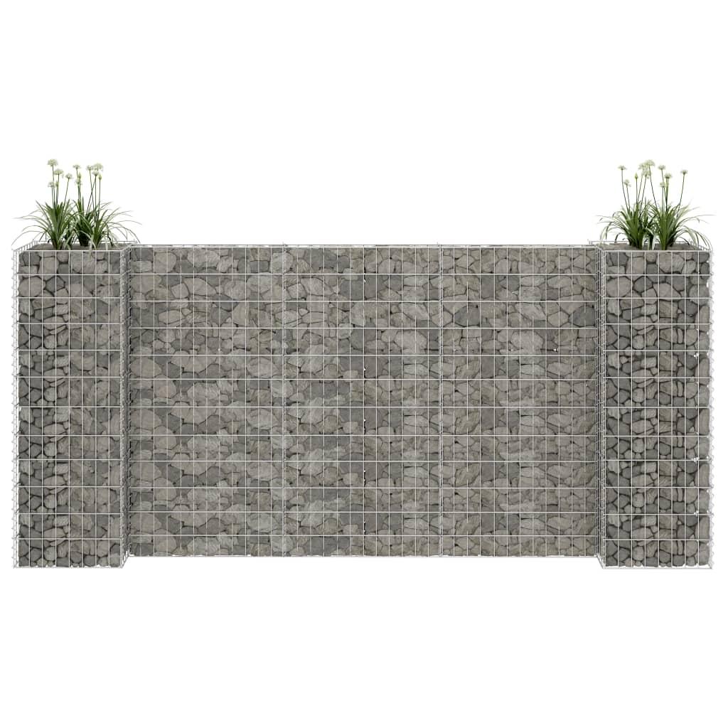 vidaXL H-formet gabion-plantekasse 260x40x120 cm stål