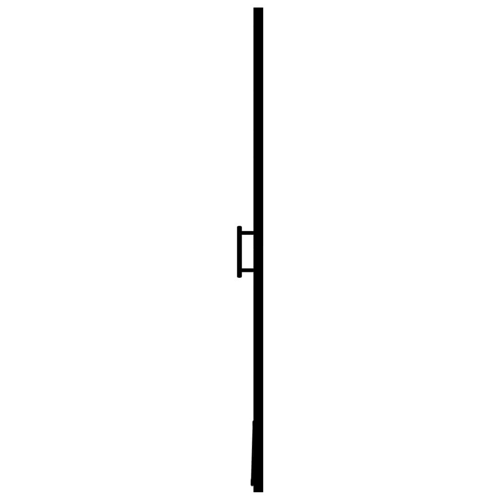 vidaXL Douchedeur 91x195 cm gehard glas zwart