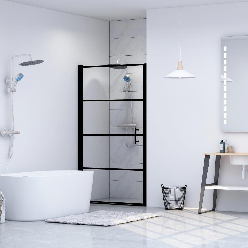 vidaXL Ușă de duș, negru, 101 x 180 cm, sticlă securizată imagine vidaxl.ro