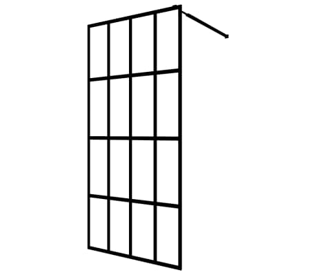 "vidaXL Walk-in Shower Screen Tempered Glass 35.4""x76.8"""
