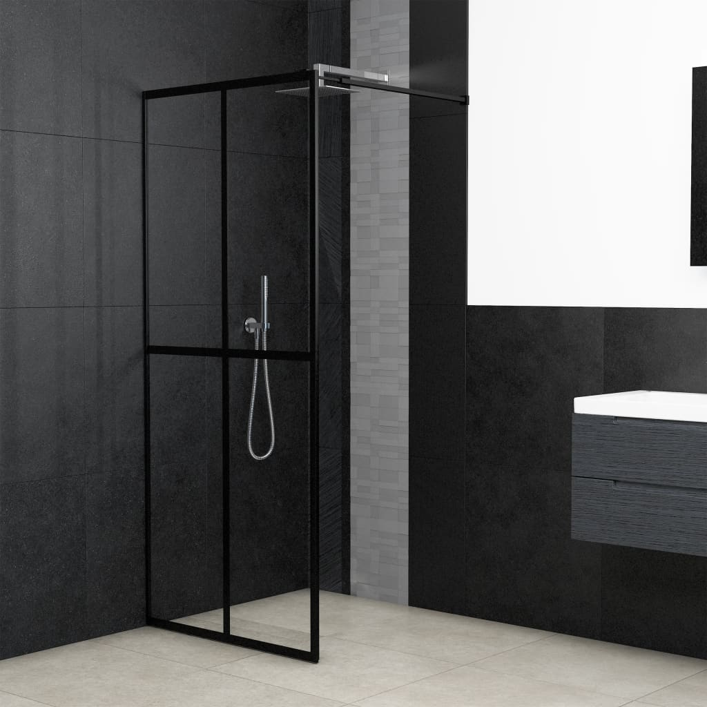 vidaXL Paravan de duș walk-in, 90 x 195 cm, sticlă securizată poza vidaxl.ro
