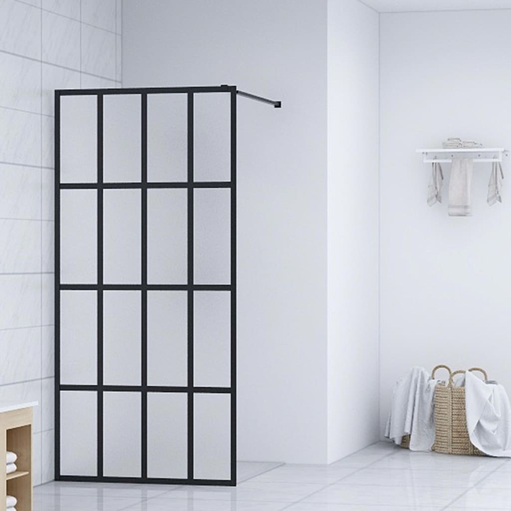 vidaXL Paravan de duș walk-in, 118 x 190 cm, sticlă securizată imagine vidaxl.ro