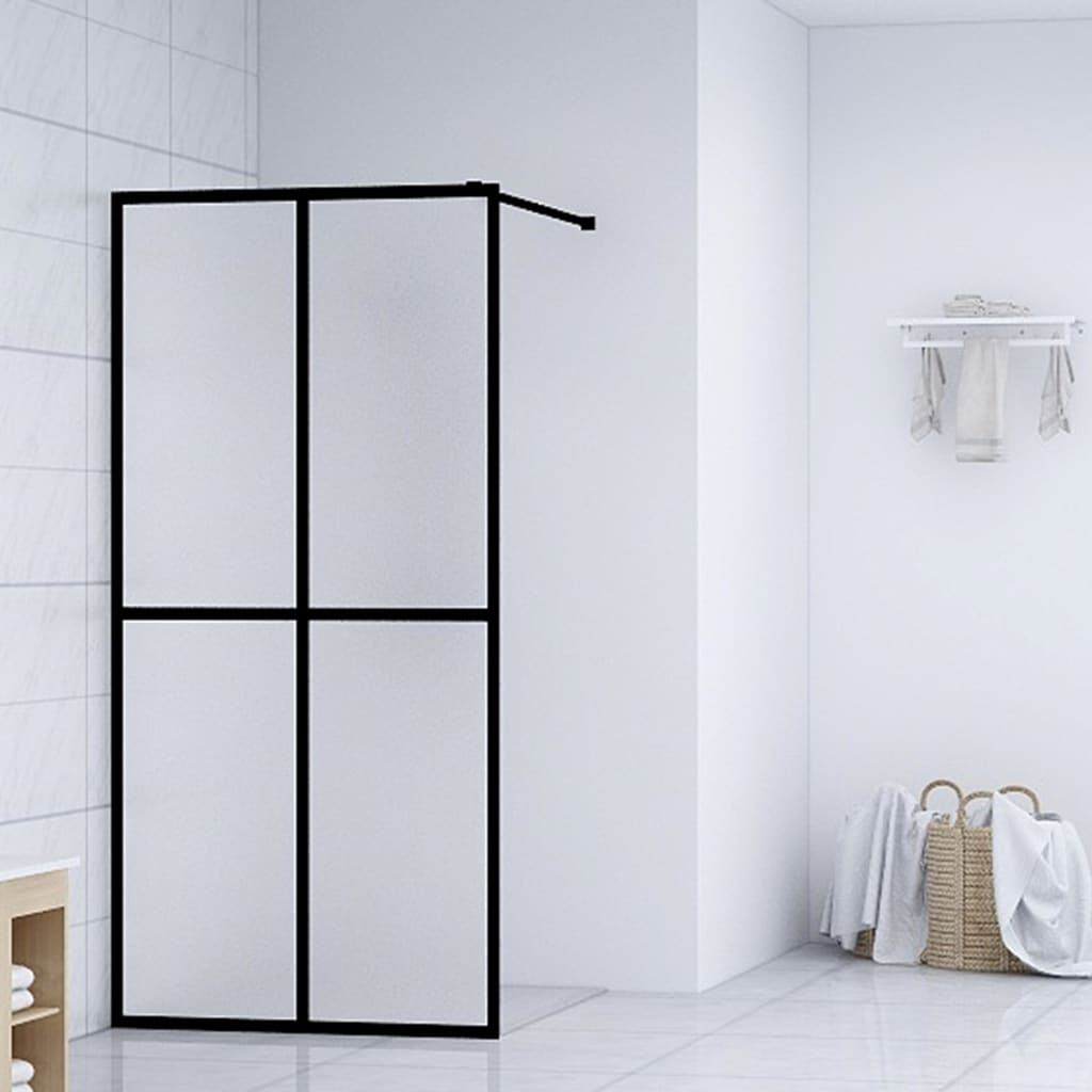 vidaXL Paravan de duș walk-in, 80 x 195 cm, sticlă securizată imagine vidaxl.ro