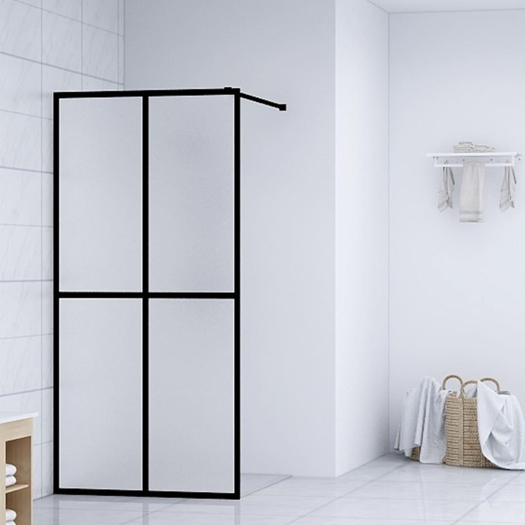 vidaXL Paravan de duș walk-in, 100 x 195 cm, sticlă securizată imagine vidaxl.ro