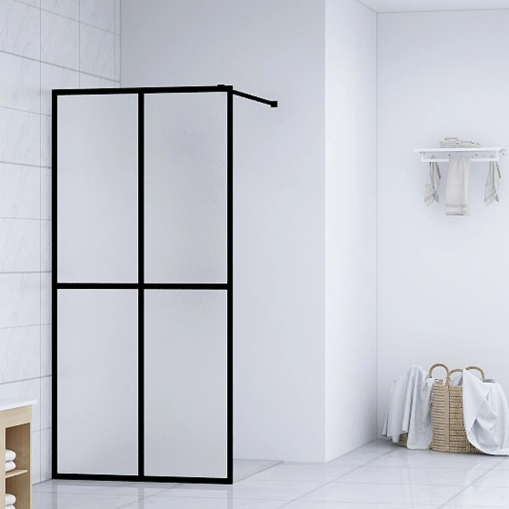 vidaXL Paravan de duș walk-in, 140 x 195 cm, sticlă securizată imagine vidaxl.ro