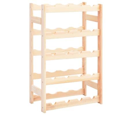 vidaXL Garrafeira para 20 garrafas madeira de pinho