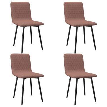 vidaXL Esszimmerstühle 4 Stk. Braun Stoff |